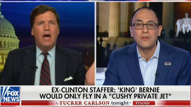 Tucker Carlson: Bernie Sanders Should Walk From Vermont to D.C. to Reduce Carbon Emissions