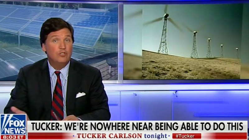 Tucker Carlson Mocked For Asking How Wind Power Can 'Heat Your Home When It's 30 Below'
