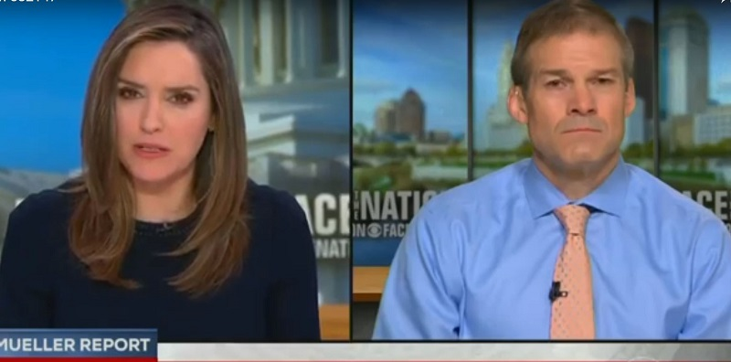 Jim Jordan Gets Under Skin of CBS Anchor While Dodging Questions About Mueller Report