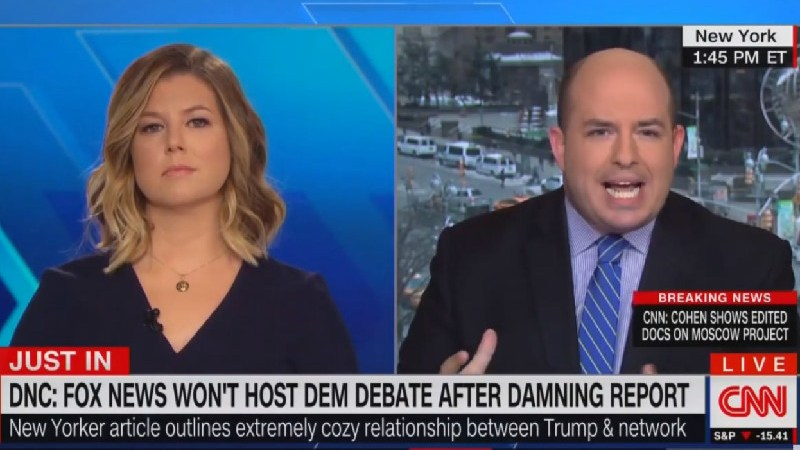 CNN's Stelter: DNC Rejecting Fox News Debate Unsurprising Since 'Democrats Are Dehumanized' By Network