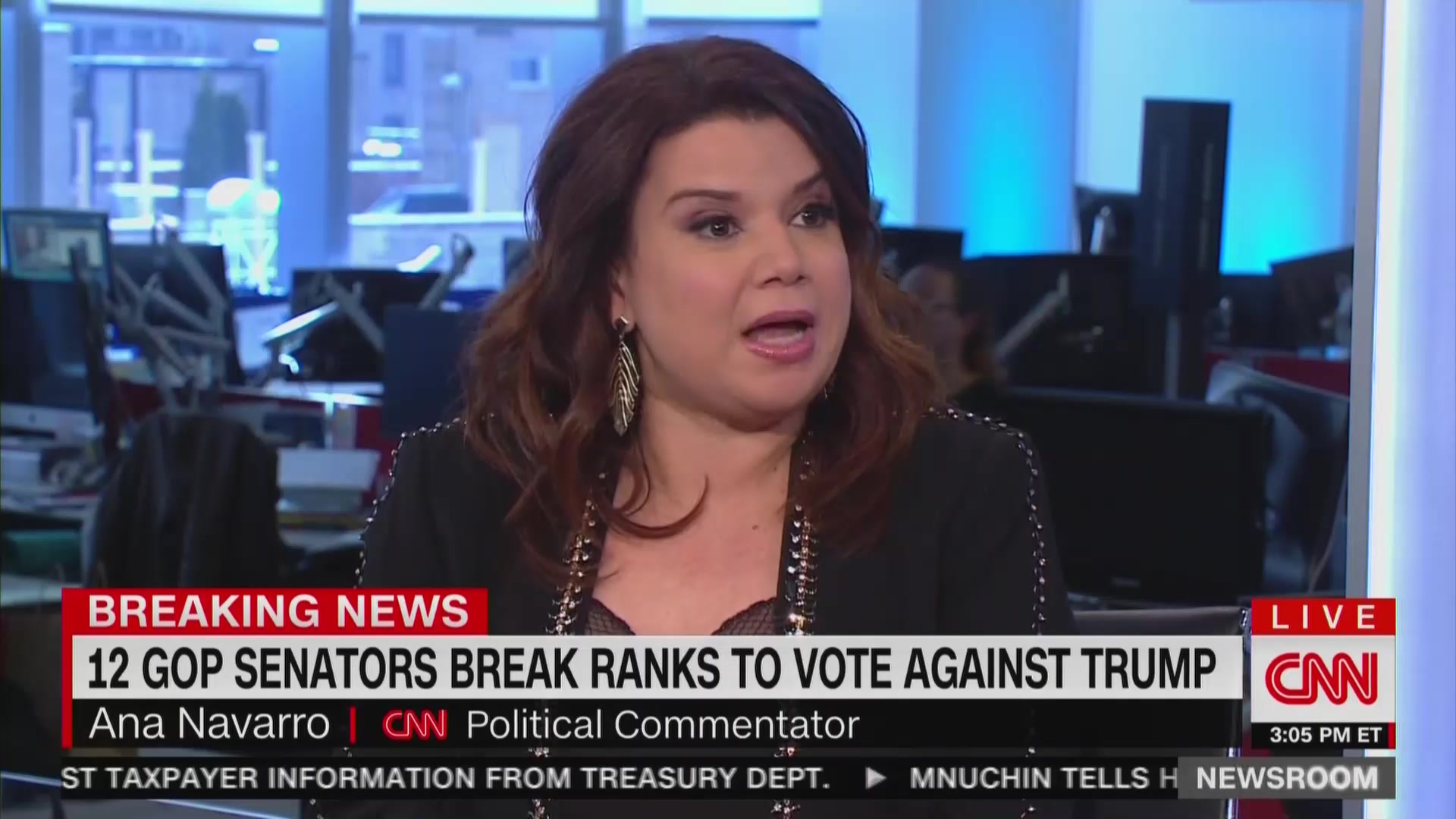 Ana Navarro: Republicans Brave For Bucking 'Mafia-Style' Trump on Emergency Declaration