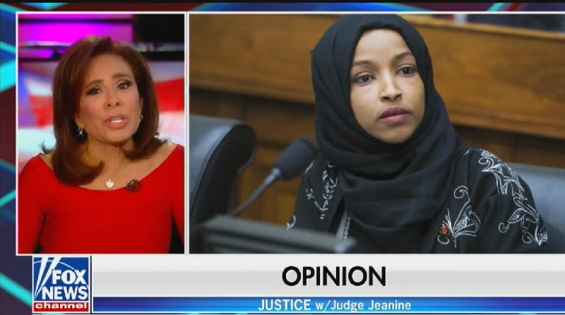 Fox's Jeanine Pirro: Ilhan Omar's Hijab Means She Doesn't Believe in the Constitution