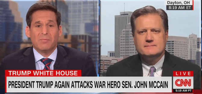Watch: Republican Congressman Desperately Avoids Criticizing Trump's Attack On McCain