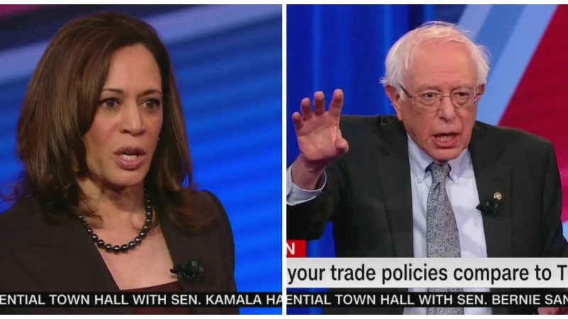 Kamala Harris Beats Bernie Sanders in CNN Town Hall Ratings, Leads Time Slot in Key Demo