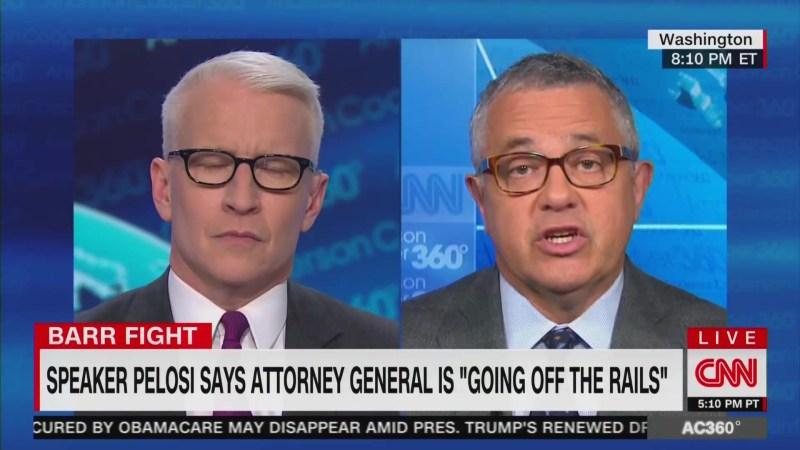 CNN's Jeffrey Toobin: William Barr 'Talks Like Sean Hannity'
