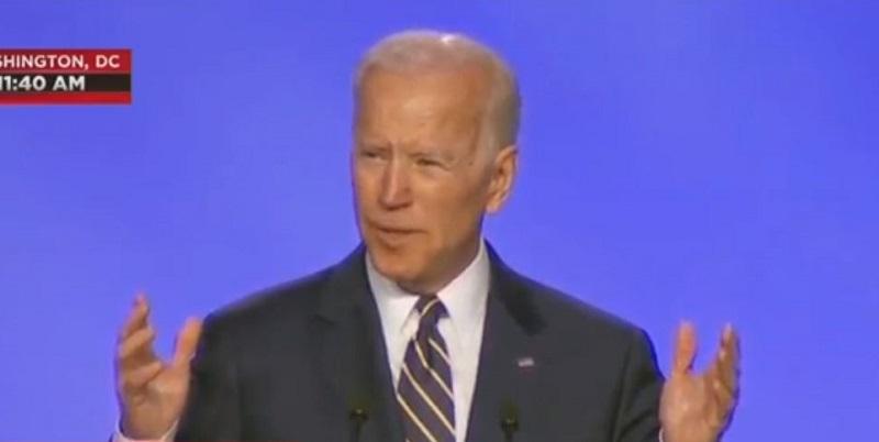 Biden Jokes About Hugging Someone in First Speech Since Allegations Emerged