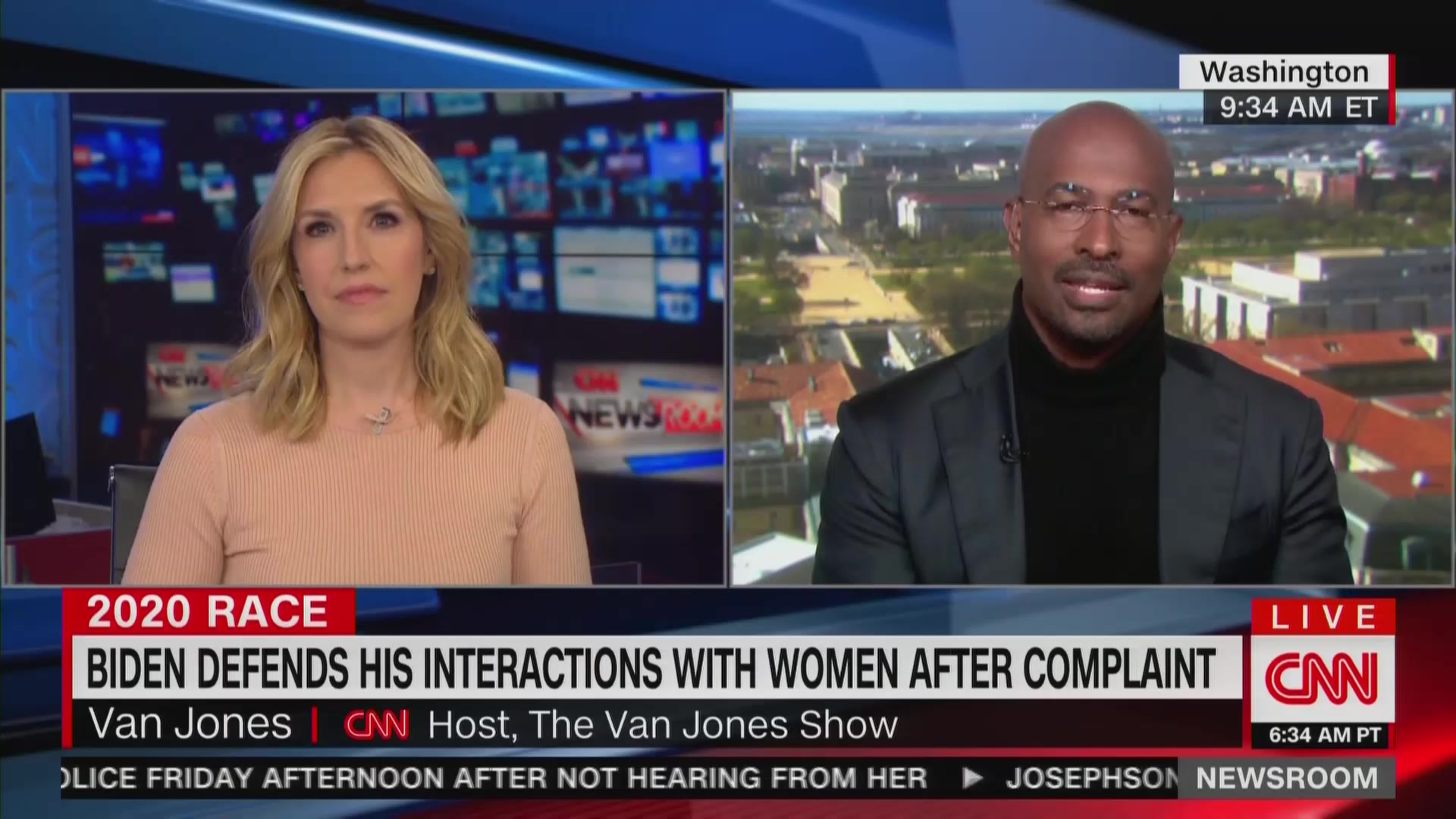 Van Jones on Lucy Flores Allegation: 'Old School' Joe Biden Is 'Very Much a Hands-On Guy'