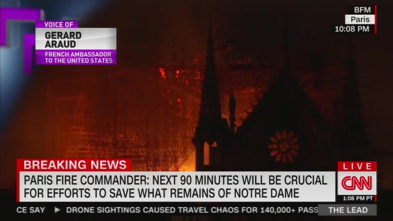 French Ambassador Rebuts Trump on Notre Dame Fire: 'It's Not Possible to Use Water Tankers'