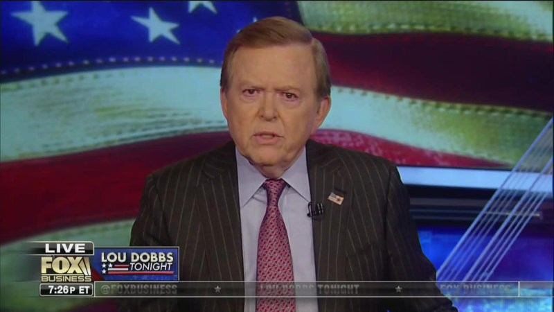 WATCH: Lou Dobbs Issues Correction for Airing Inaccurate Graphic on Trump's 'Soaring' Approval