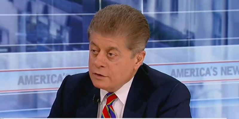 Fox News Silent on Trump's Accusation That Judge Napolitano Asked for Supreme Court Spot