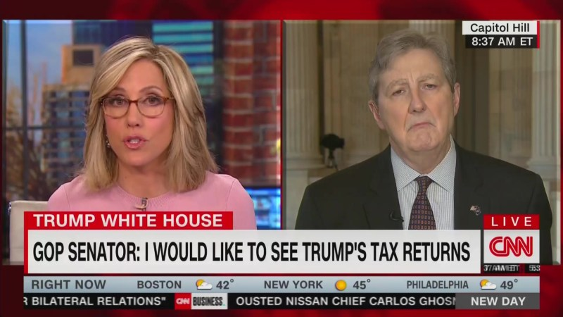 GOP Senator John Kennedy Says He 'Would Like to See' Trump's Tax Returns