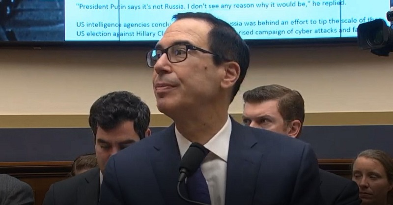 WATCH: Democratic Congresswoman Gives Steve Mnuchin Lesson in Basic Civics