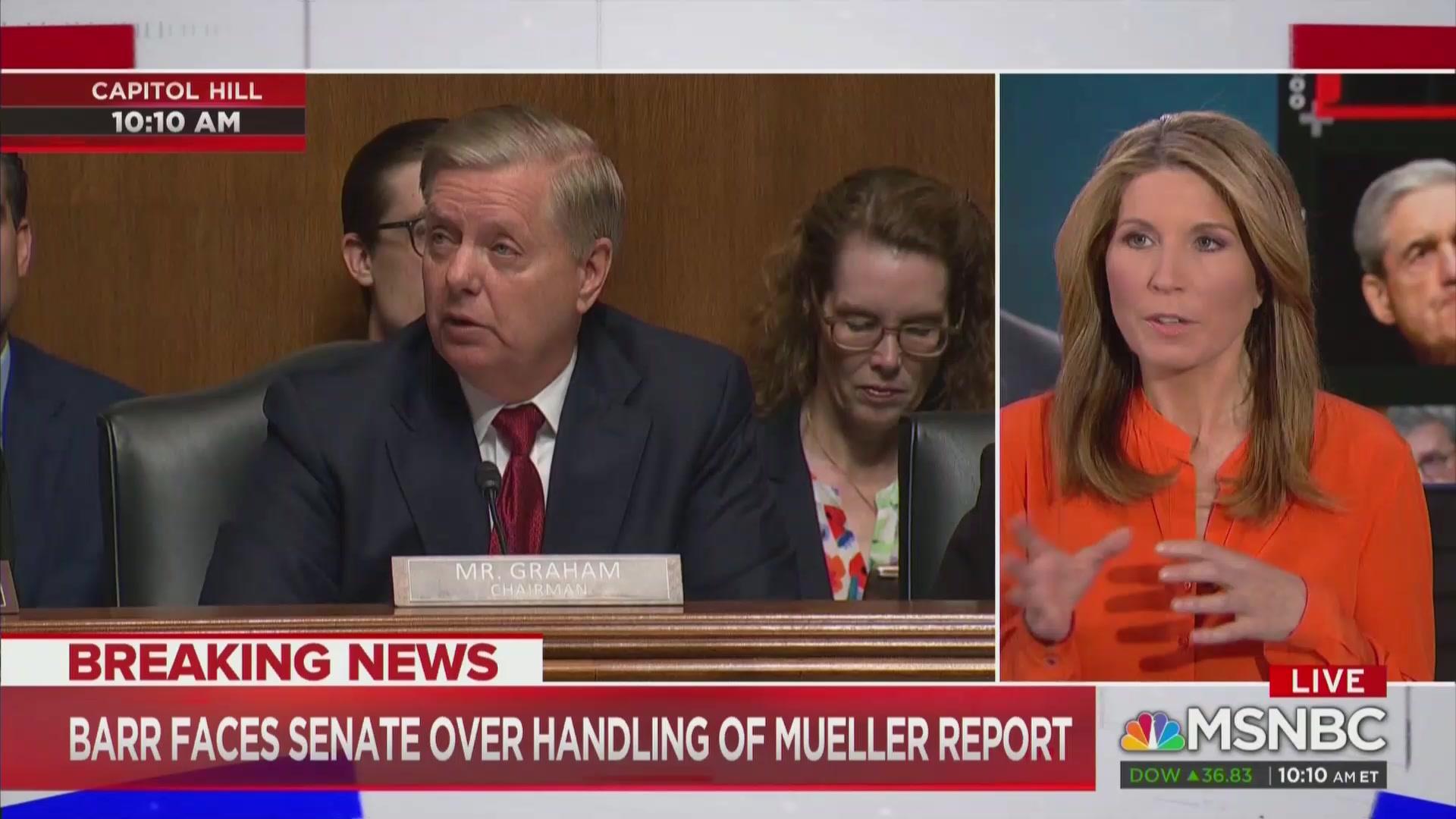 MSNBC Cuts Into Barr Hearing to Call AG a Liar, Lindsey Graham Trump's 'Human Shield'