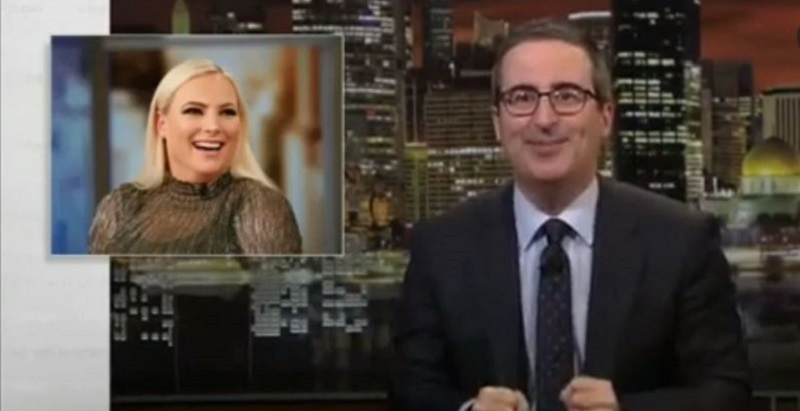 John Oliver Trolls Meghan McCain: 'I Bet Her Husband Is Going to Be So Mad at Me!'