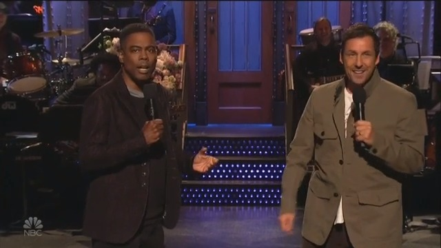 Adam Sandler Hosts SNL For First Time Ever, Sings 'I Was Fired' With Chris Rock