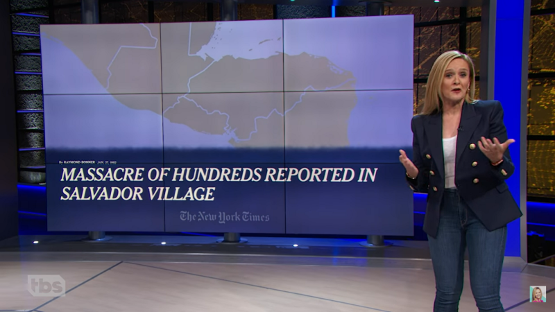 Watch: Samantha Bee Explains How The US Caused The Migrant Crisis