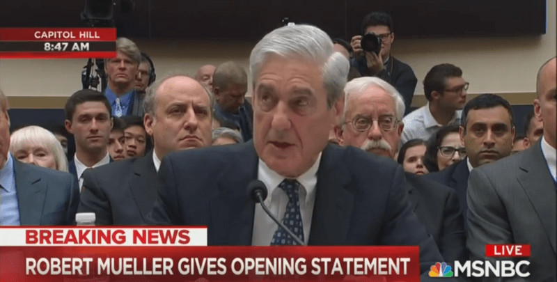 Mueller Hearing Fizzles in TV Ratings, Draws Far Fewer Viewers Than Comey or Kavanaugh