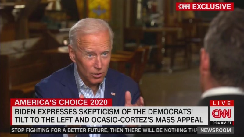Biden Throws Shade at AOC: 'Mainstream Democrats' Won Last Year's Midterms, Not Far Left