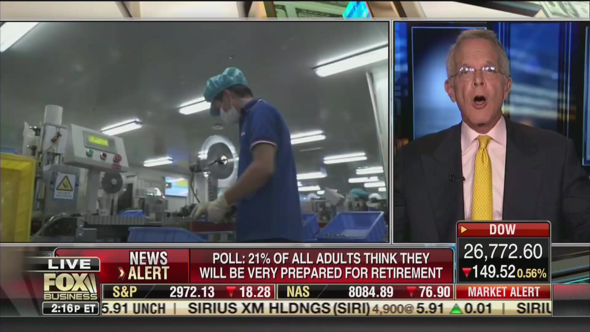 Fox Business Guest: 'Great Blessing' That Millions of Americans Expect to Never Retire