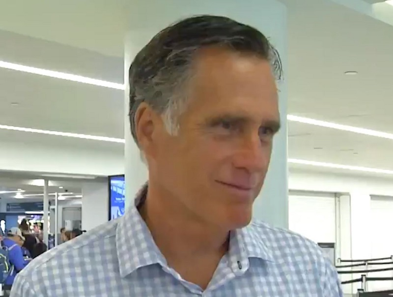 Mitt Romney Wimps Out, Can't Bring Himself to Call Trump's Tweets Racist