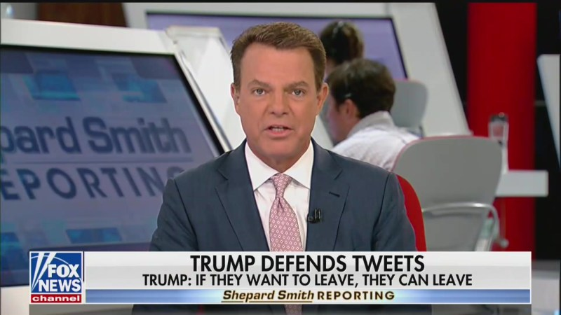 Shep Smith Blasts Trump for His 'Misleading and Xenophobic Eruption' Against Squad