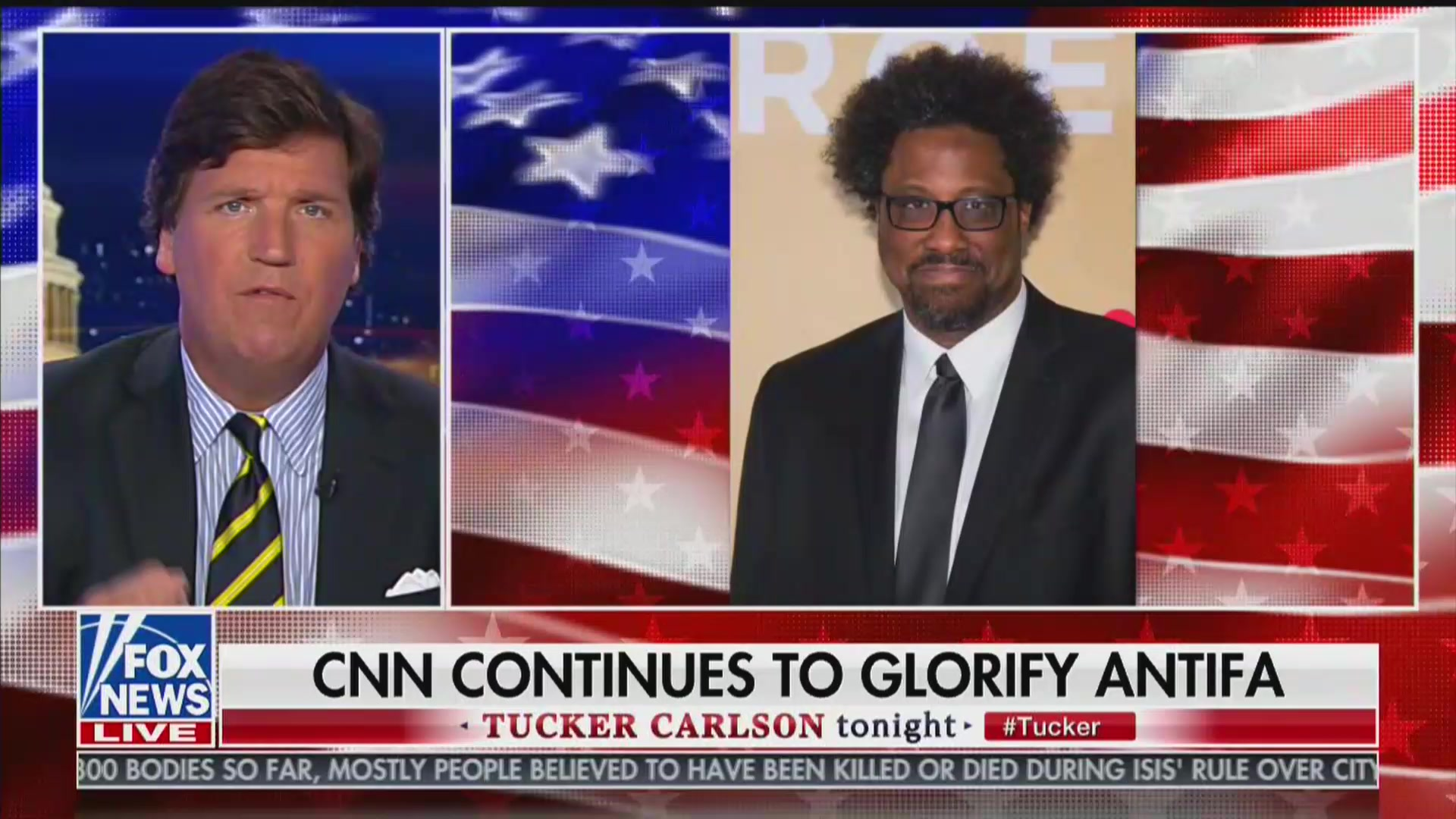 Tucker Carlson Accuses CNN of Funding Antifa: 'They Are Literally Promoting Violence!'