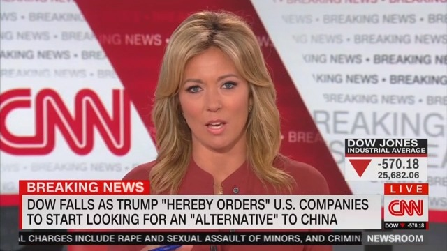 CNN's Brooke Baldwin Slams Trump for Joking About Dow Jones Crash: 'Hilarious, Mr. President'