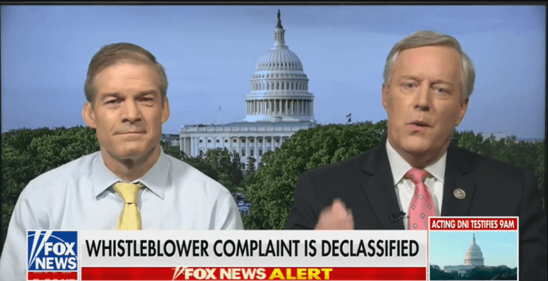 GOP Rep. Jim Jordan: Intel Community Is 'Getting Back' at Trump with Whistleblower Complaint