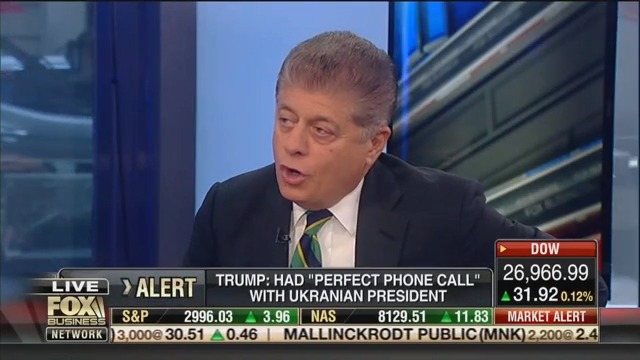 Fox's Judge Nap: Trump's Ukraine 'Act of Corruption' Is the 'Most Serious Charge' He's Faced Yet