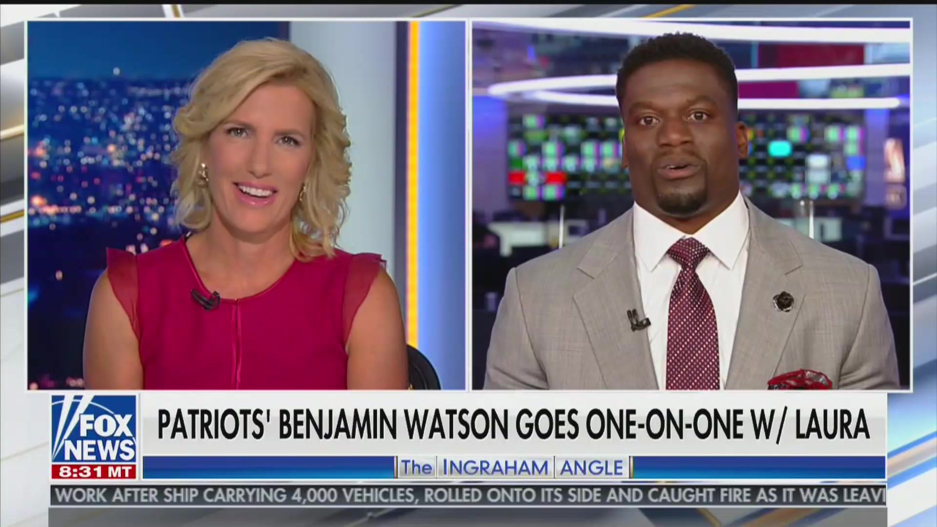 Laura Ingraham's Interview With Black NFL Star Blows Up In Her Face: 'I Read the Article!'