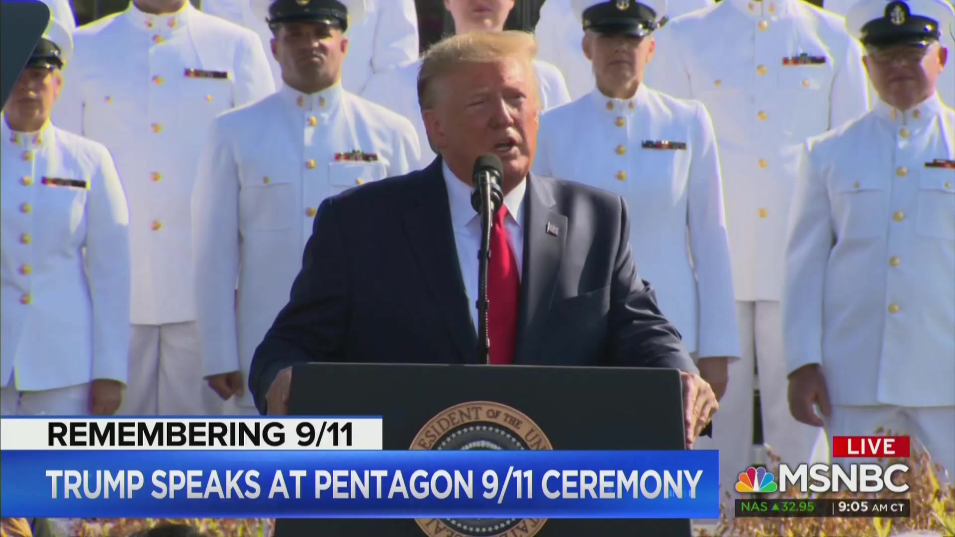 During 9/11 Ceremony, Trump Repeats Baseless Claim He Helped Out at Ground Zero