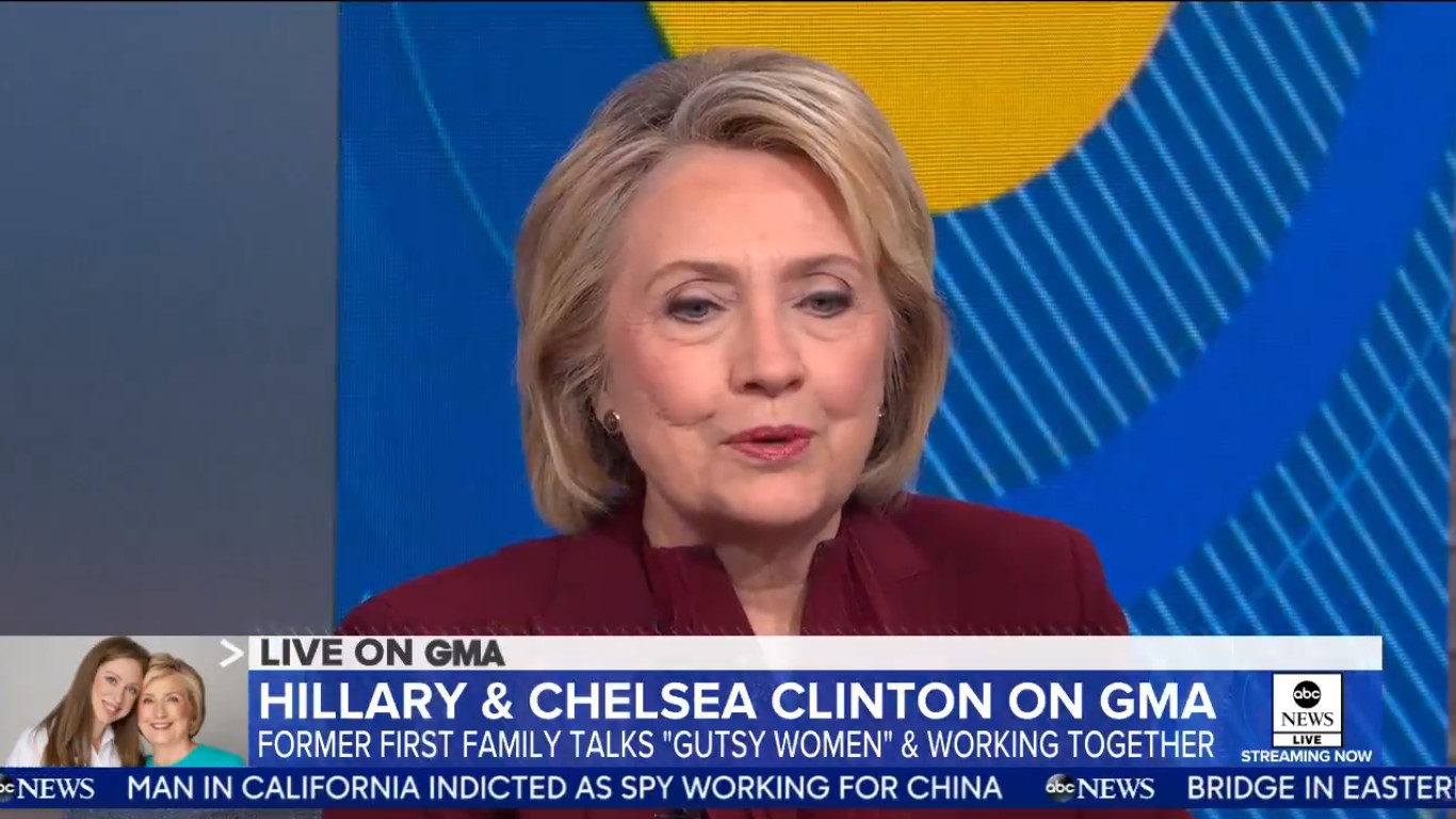 Hillary Clinton Says Gutsiest Thing She Ever Did Was Stay In Her Marriage