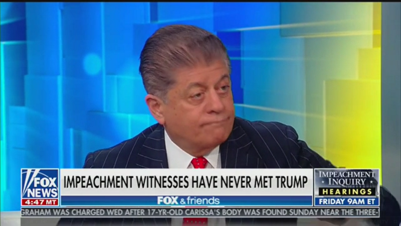 Fox's Judge Andrew Napolitano: The Delay In Ukraine Aid 'Is The Quid Pro Quo'