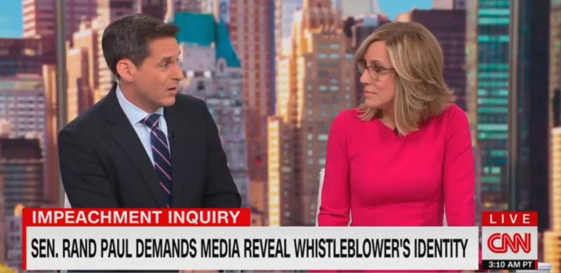 CNN's John Berman Calls Rand Paul 'Cowardly' for Wanting to Out Whistleblower: 'He's a Small Man'