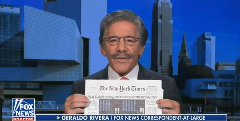 Fox's Geraldo Rivera: 'Grotesquely Unfair' Impeachment Will Lead to 'Kind of Tea Party Uprising'