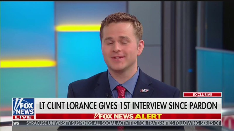 Pardoned War Criminal Clint Lorance Thanks Trump on 'Fox & Friends': 'I Love You, Sir!'