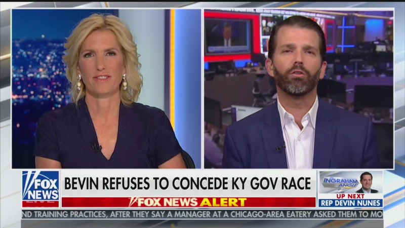 'This Has Nothing to Do With Trump': Don Jr. Distances Father From Kentucky Election