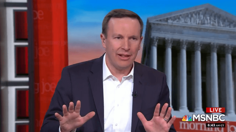 Democratic Senator Chris Murphy Says He's Spoken to Republicans Considering Voting for Impeachment