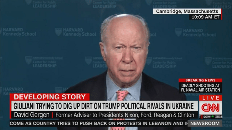 David Gergen Aghast at Giuliani's Ukraine Trip: Will Impeachment 'Turn on the Word of a KGB Agent?'