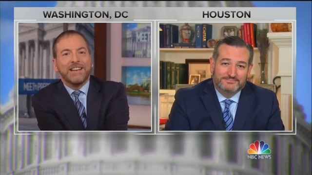 Chuck Todd Confronts Ted Cruz on His Belief Ukraine Meddled in Election: 'You Do?!'
