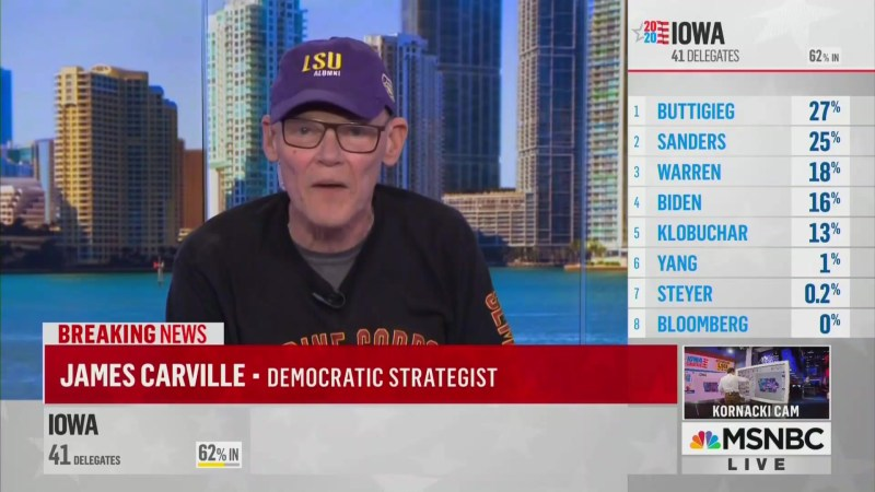 James Carville Goes Off On Bernie and State of Democratic Party: 'I'm Scared to Death!'