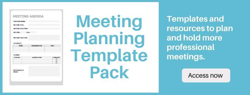 Meeting Agenda Template Pack Download O