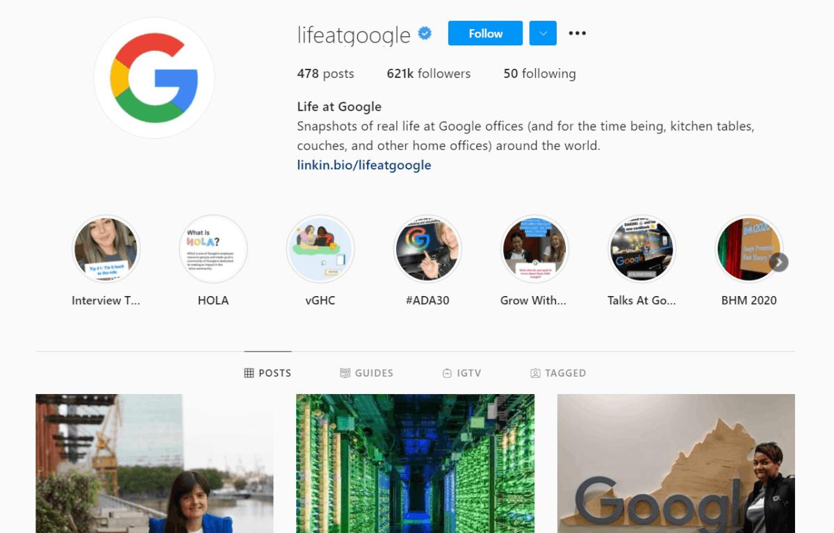 google instagram marketing example