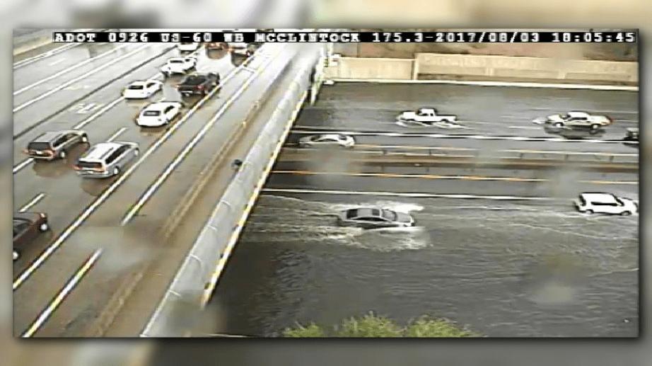12newscom  Rain and winds cause flooding damage across the Phoenix area
