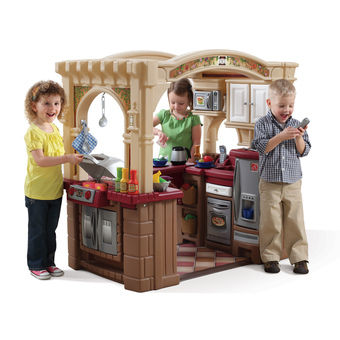 childrens kitchens kitchen cabinets pantry step2 plastic grand walk in grill