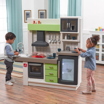 step 2 play kitchens 4 stool kitchen island step2 childrens plastic euro edge
