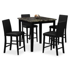 High Table And Chairs For Kitchen Small Chair Slipcovers Shadow Counter Height 4 Black American Click To Change Image