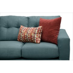 Where To Donate Sectional Sofa Contemporary Leather Sofas Italian West Village 2 Piece Blue American Signature