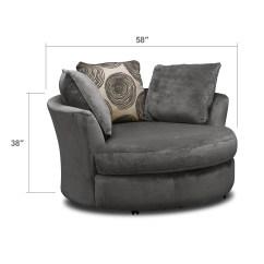 Swivel Cuddle Chair York Diy Wedding Signs Cordelle Gray American Signature Furniture