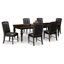 6 Dining Room Chairs Retro Leather Uk Esquire Table And Cherry American Signature
